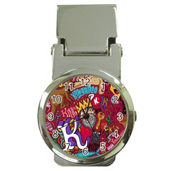 K Pattern Cartoons Money Clip Watches