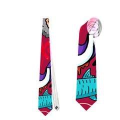 K Pattern Cartoons Neckties (two Side)  by AnjaniArt