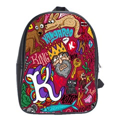 K Pattern Cartoons School Bags (xl)  by AnjaniArt