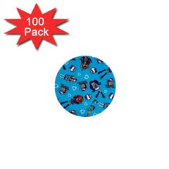 Large 1  Mini Buttons (100 Pack)