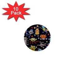 Large Pablic Cartoons 1  Mini Magnet (10 Pack)