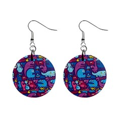 Mo Monsters Mo Patterns Mini Button Earrings