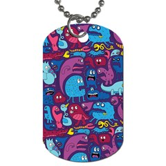 Mo Monsters Mo Patterns Dog Tag (two Sides)