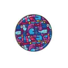 Mo Monsters Mo Patterns Hat Clip Ball Marker