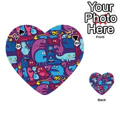 Mo Monsters Mo Patterns Playing Cards 54 (heart)