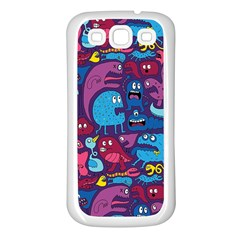 Mo Monsters Mo Patterns Samsung Galaxy S3 Back Case (white)