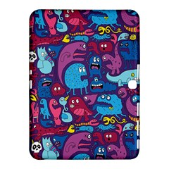 Mo Monsters Mo Patterns Samsung Galaxy Tab 4 (10 1 ) Hardshell Case  by AnjaniArt
