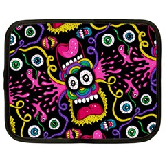 Monster Face Mask Patten Cartoons Netbook Case (large)