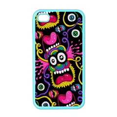 Monster Face Mask Patten Cartoons Apple Iphone 4 Case (color)