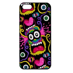 Monster Face Mask Patten Cartoons Apple Iphone 5 Seamless Case (black) by AnjaniArt