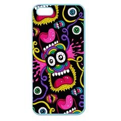 Monster Face Mask Patten Cartoons Apple Seamless Iphone 5 Case (color)