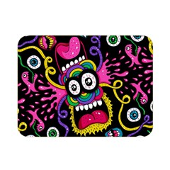 Monster Face Mask Patten Cartoons Double Sided Flano Blanket (mini)