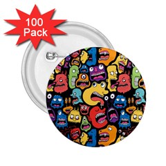 Monster Faces 2 25  Buttons (100 Pack)  by AnjaniArt