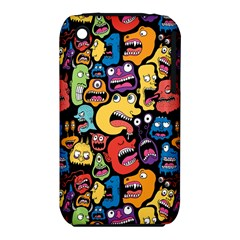 Monster Faces Apple Iphone 3g/3gs Hardshell Case (pc+silicone)