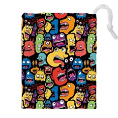 Monster Faces Drawstring Pouches (xxl) by AnjaniArt
