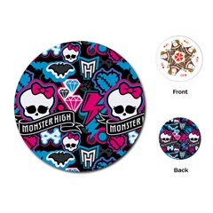 Monster High 03 Playing Cards (round)