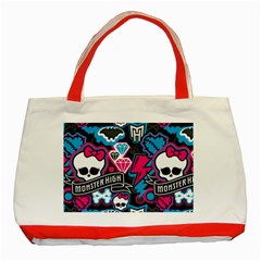 Monster High 03 Classic Tote Bag (red) by AnjaniArt