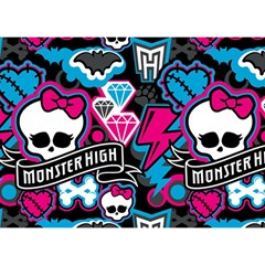 Monster High 03 Birthday Cake 3d Greeting Card (7x5)