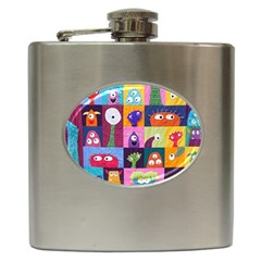 Monster Quilt Hip Flask (6 Oz) by AnjaniArt