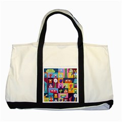 Monster Quilt Two Tone Tote Bag