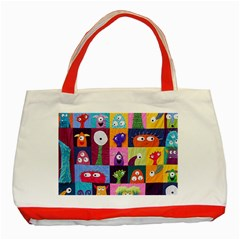 Monster Quilt Classic Tote Bag (red)