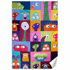Monster Quilt Canvas 20  X 30   by AnjaniArt