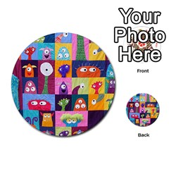 Monster Quilt Multi Purpose Cards (round)  by AnjaniArt