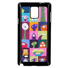 Monster Quilt Samsung Galaxy Note 4 Case (black) by AnjaniArt
