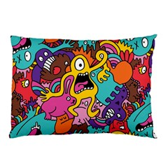 Monsters Pattern Pillow Case (two Sides) by AnjaniArt