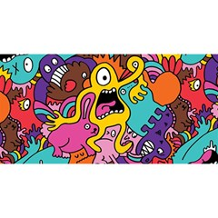 Monsters Pattern You Are Invited 3d Greeting Card (8x4) by AnjaniArt