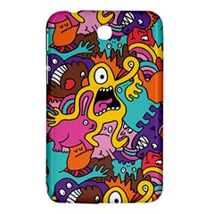 Monsters Pattern Samsung Galaxy Tab 3 (7 ) P3200 Hardshell Case  by AnjaniArt