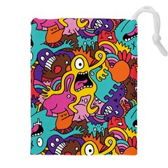 Monsters Pattern Drawstring Pouches (xxl)