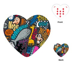 N Pattern Playing Cards (heart)