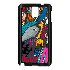 N Pattern Samsung Galaxy Note 3 N9005 Case (black)