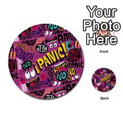 Panic Pattern Multi Purpose Cards (round)