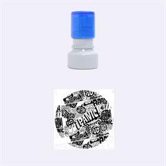 Panic Pattern Rubber Round Stamps (small) by AnjaniArt
