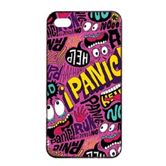 Panic Pattern Apple Iphone 4/4s Seamless Case (black) by AnjaniArt