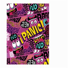 Panic Pattern Small Garden Flag (two Sides) by AnjaniArt