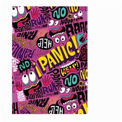 Panic Pattern Large Garden Flag (two Sides) by AnjaniArt