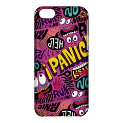Panic Pattern Apple Iphone 5c Hardshell Case by AnjaniArt