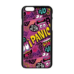 Panic Pattern Apple Iphone 6/6s Black Enamel Case by AnjaniArt