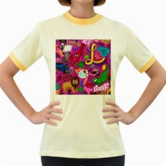 Pattern Monsters Women s Fitted Ringer T Shirts