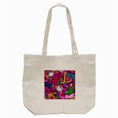 Pattern Monsters Tote Bag (cream)