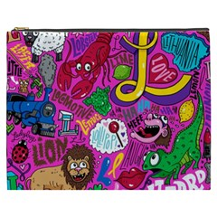 Pattern Monsters Cosmetic Bag (xxxl)