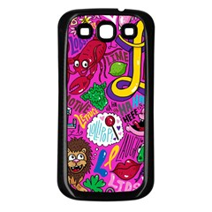 Pattern Monsters Samsung Galaxy S3 Back Case (black)
