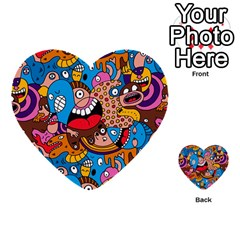 People Face Fun Cartoons Multi Purpose Cards (heart)