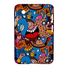 People Face Fun Cartoons Samsung Galaxy Tab 2 (7 ) P3100 Hardshell Case  by AnjaniArt