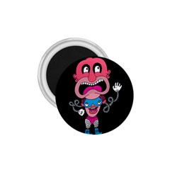 Red Cartoons Face Fun 1 75  Magnets by AnjaniArt