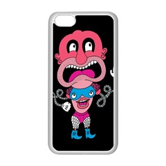 Red Cartoons Face Fun Apple Iphone 5c Seamless Case (white)