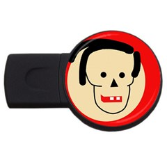 Face Usb Flash Drive Round (2 Gb)  by Valentinaart